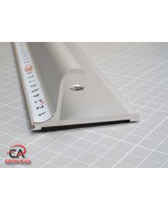 Aluminijsko ravnalo sigurnosno za rezanje sa povišenim rubom 1000mm