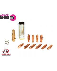 Abicor Binzel 1,0mm 150 A Komplet plinskih kontaktnih sapnica sa nosačem i oprugom