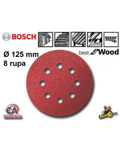 Bosch 125mm 400g Brusni papir na čičak 8 rupa 50 komada 2608607832