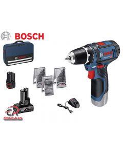 Bosch GSR 12V-15 Aku bušilica s 4,0Ah i 2,0Ah baterijama i priborom