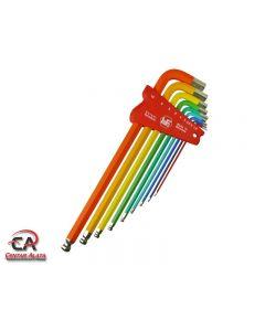 Garnitura Imbus ključeva dugih s kuglom u boji