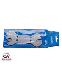 Ključevi viljuškasti konusni u garnituri za bicikl Unior 1612PB