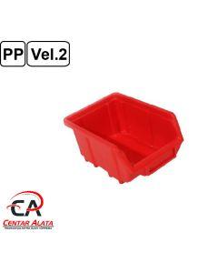 Ecobox Kutija veličina 2 za vijke ili materijal 168x111x76mm crvena