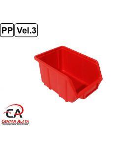 Ecobox Kutija veličina 3 za vijke ili materijal 250x160x129mm crvena