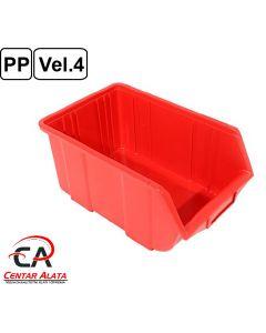 Ecobox Kutija veličina 4 za vijke ili materijal 355x220x166mm crvena