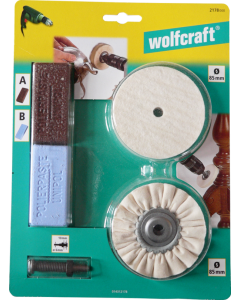 Wolfcraft garnitura za poliranje inoxa aluminija bakra mesinga 2178 000