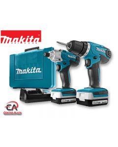 Makita DK1496 kompleta aku bušilica DF347DW i aku impakt odvijač TD126DW