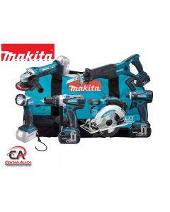 Makita DLX6011X4E komplet DHP458Z+DSS610Z+DGA452Z+DTD146Z+DJR181Z+DML802 i 4x18V 3,0Ah