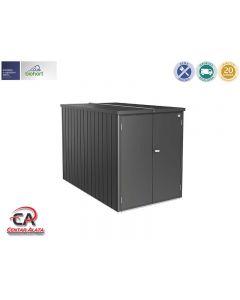 Mini garaža metalik tamno siva 122 x 203 x 145 cm
