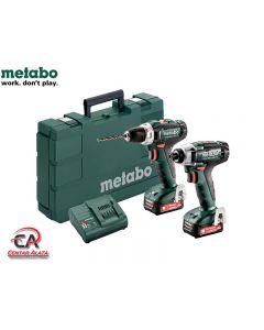 Metabo Combo 2.7.1 12V Aku bušilica BS i Aku udarni odvijač SSD sa 2,0Ah baterijama