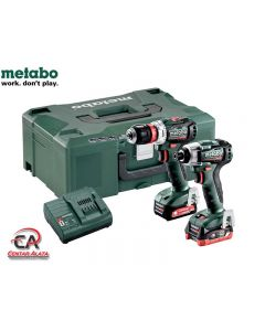 Metabo Combo 2.7.4 12V Aku bušilica BS BL Q i Aku udarni izvijač SSD BL sa 4,0Ah