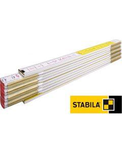 Stabila dvometar drveni bijelo-žuti tip 617 01128/4