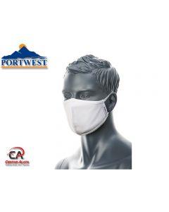 Dvoslojna antimikrobna tekstilna maska za lice CV22 Portwest Covid