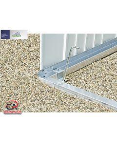 Aluminijski nosivi okvir za Europa vrtnu kućicu Biohort 150x150x4 cm veličina 2