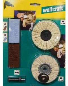 Wolfcraft profi garnitura za poliranje mesinga bakra aluminija i inoxa