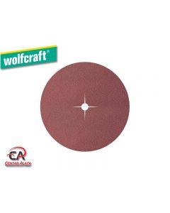 Wolfcraft 125mm 40g,  Brusni papir na čičak 8 rupa,10 komada