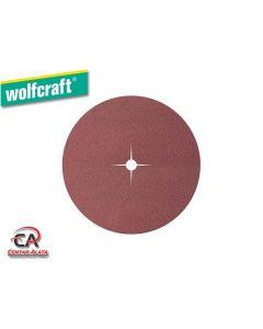 Wolfcraft 125mm 80g, Brusni papir na čičak 8 rupa,10 komada