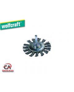 Wolfcraft pletena ravna četka 70mm za bušilicu 2119000