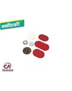 Wolfcraft set za poliranje i brušenje 14dijelni 2176000