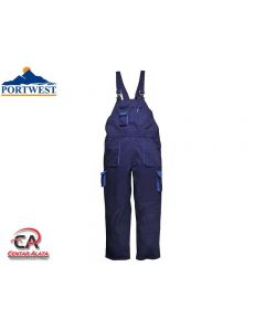 Portwest radne hlače sa naramenicama i utopljenjem TX17 veličina XL Navy Blue
